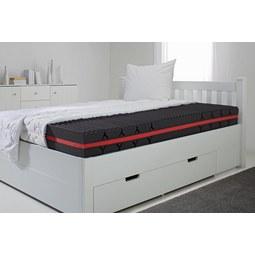 Komfortschaummatratze ca. 90x200cm - Weiß, Textil (90/200cm) - Nadana