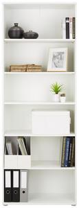 Regal Weiß - Weiß/Grau, MODERN, Holzwerkstoff/Kunststoff (72/198/34cm)