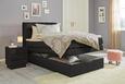 Postelja Boxspring Amelia - wenge/črna, Trendi, tekstil/leseni material (120/200cm) - Premium Living
