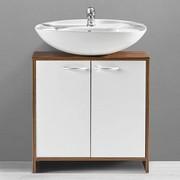 Badezimmerunterschrank Milano   Braun/Weiß, MODERN, Holz/Kunststoff (60/60