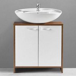 Badezimmerunterschrank Milano - Braun/Weiß, MODERN, Holz/Kunststoff (60/60/30cm) - MÖMAX modern living