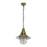 Hängeleuchte max. 60 Watt 'Jennifer' - Bronzefarben, Glas/Metall (29/29/120cm) - Bessagi Home