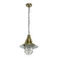 Pendelleuchte Jennifer - Bronzefarben, Glas/Metall (29/29/120cm) - Bessagi Home