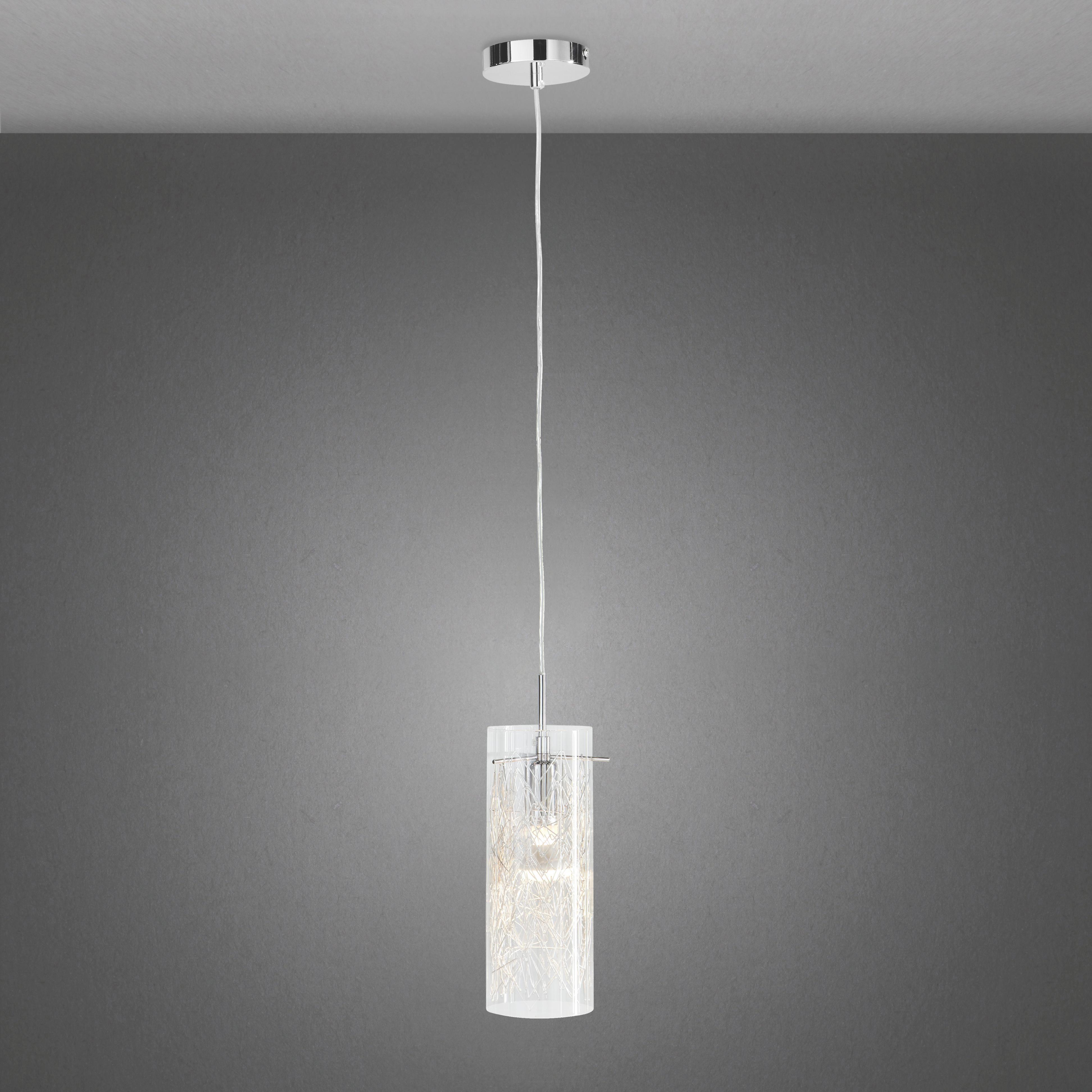 Hängeleuchten Filo - Chromfarben, MODERN, Glas/Metall (10/160cm) - PREMIUM LIVING