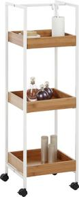 Beistellregal in Eichefarben/Weiß - Eichefarben/Weiß, MODERN, Holz/Kunststoff (29/89/27cm) - MÖMAX modern living