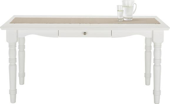 Esstisch Weiß Echtholz - Weiß, ROMANTIK / LANDHAUS, Holz (160/76/85cm) - Zandiara