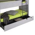 Etagenbett in Dunkelgrau ca. 90x200cm - Dunkelgrau, KONVENTIONELL, Holzwerkstoff (90/200cm) - Modern Living