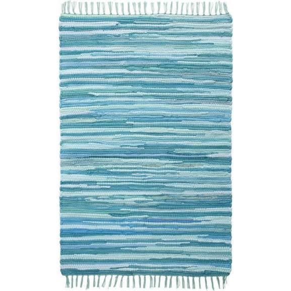 Fleckerlteppich Tonal in Türkis ca.70x200cm - Türkis, LIFESTYLE, Textil (70/200cm) - Mömax modern living