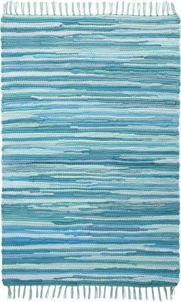 Fleckerlteppich Tonal - Türkis, LIFESTYLE, Textil (70/200cm) - MÖMAX modern living