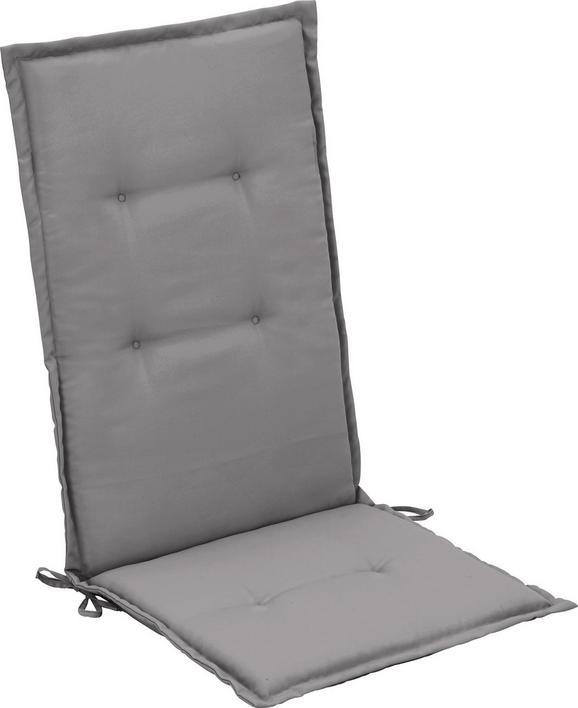 Sesselauflage Poppi Hellgrau - Hellgrau, Textil (48/115/48cm) - Mömax modern living