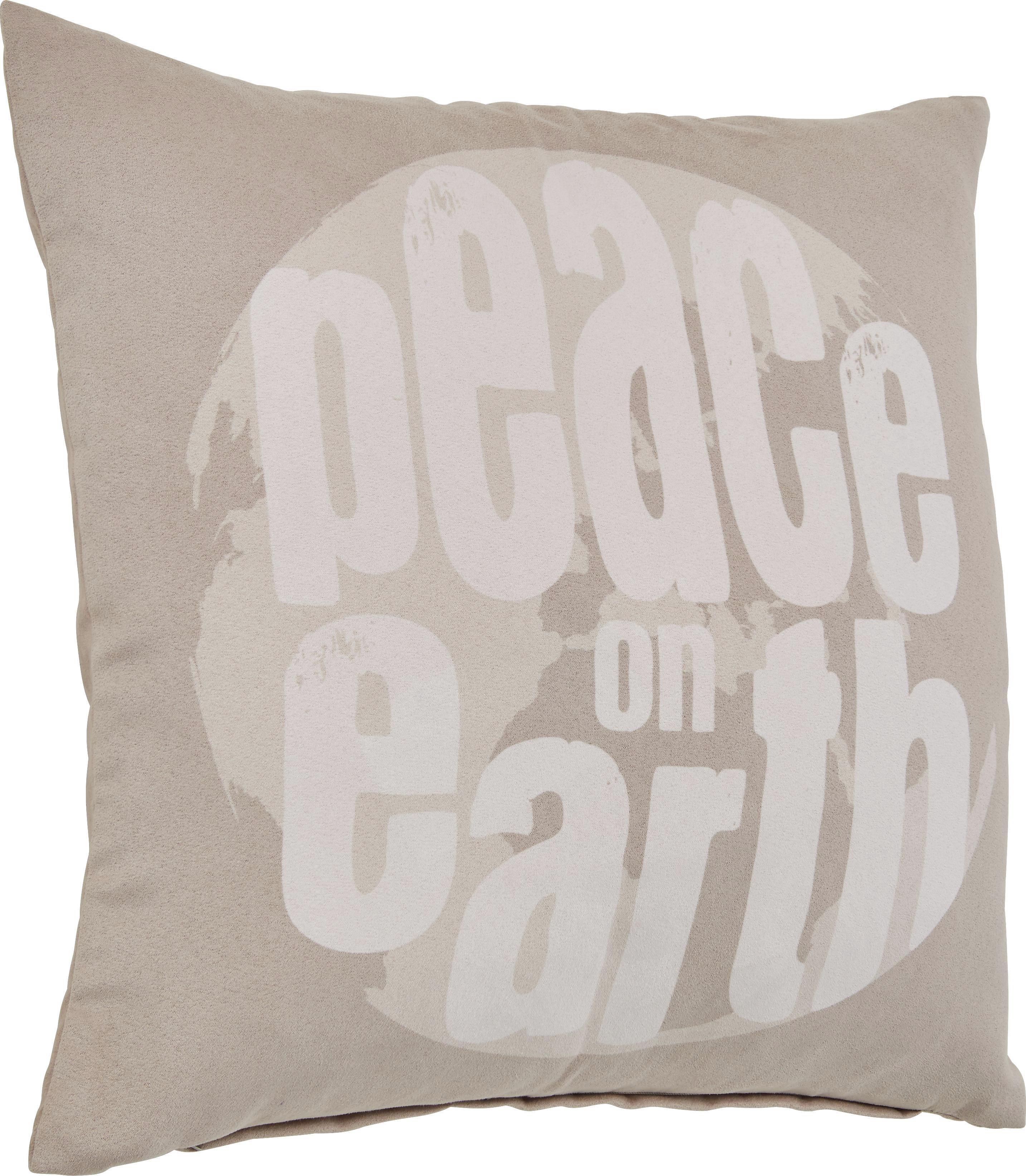 Zierkissen Peace in Beige, ca. 45x45cm - Beige, ROMANTIK / LANDHAUS, Textil (45/45cm) - MÖMAX modern living