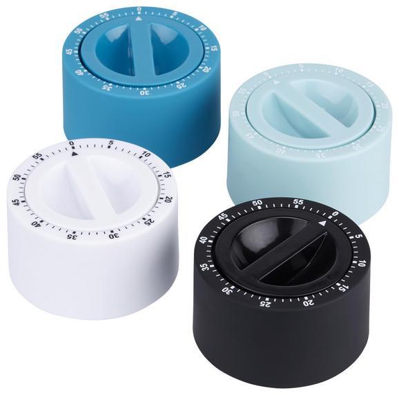 Zeitschaltuhr Clary Verschiedene Farben - Blau/Schwarz, Kunststoff (7cm)