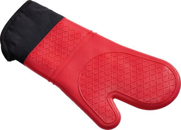 Edényfogó Kesztyű Jonny - piros/szürke, műanyag/textil (32/19cm) - MÖMAX modern living