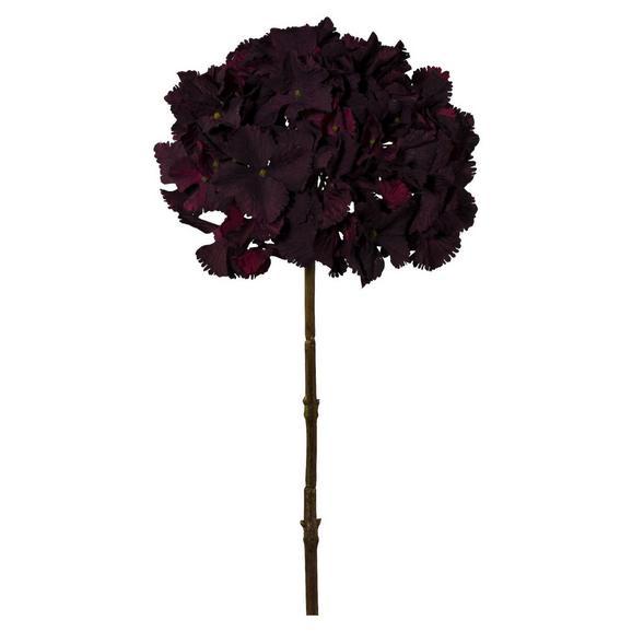 Kunstblume Hortensie I Bordeaux - Bordeaux, Textil (53cm)