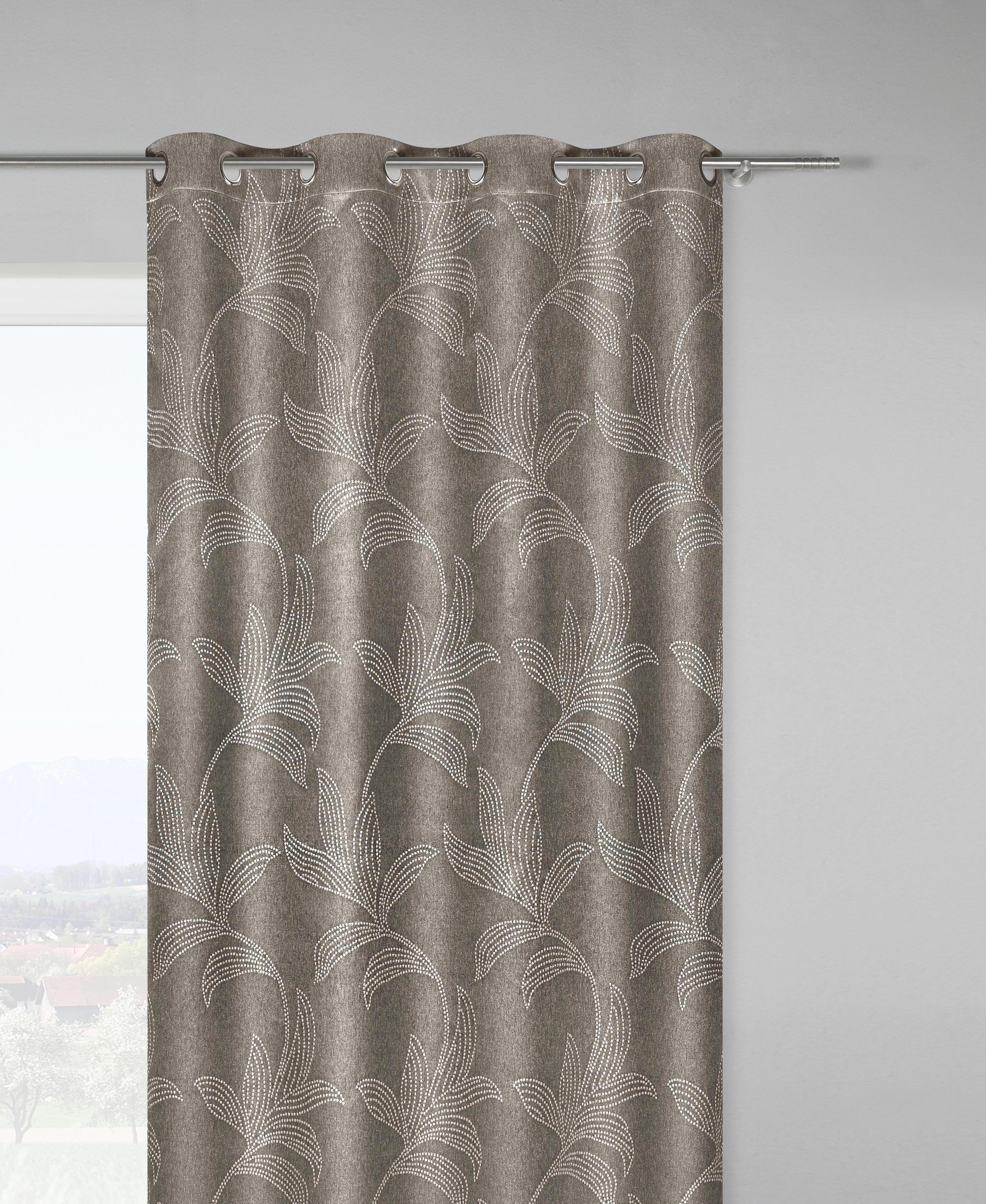 Ösenschal Linda in Braun, ca. 140x245cm - Braun, KONVENTIONELL, Textil (140/245cm) - MÖMAX modern living