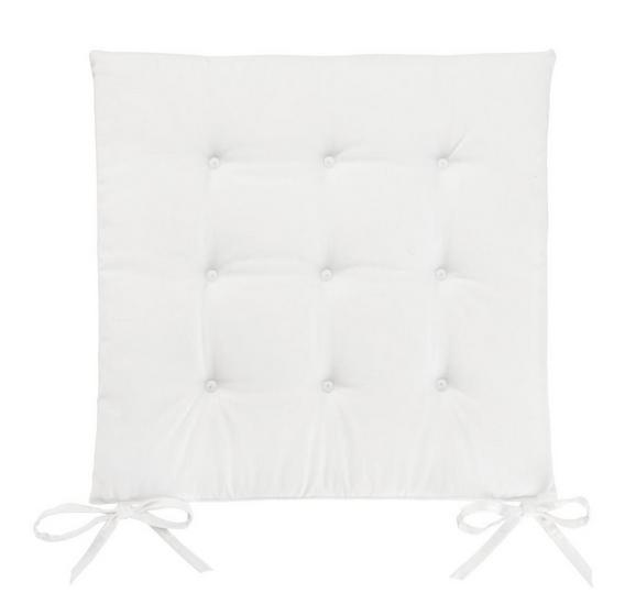 Sitzkissen Lola  Weiß ca. 40x40cm - Naturfarben, Textil (40/40/2cm) - Based