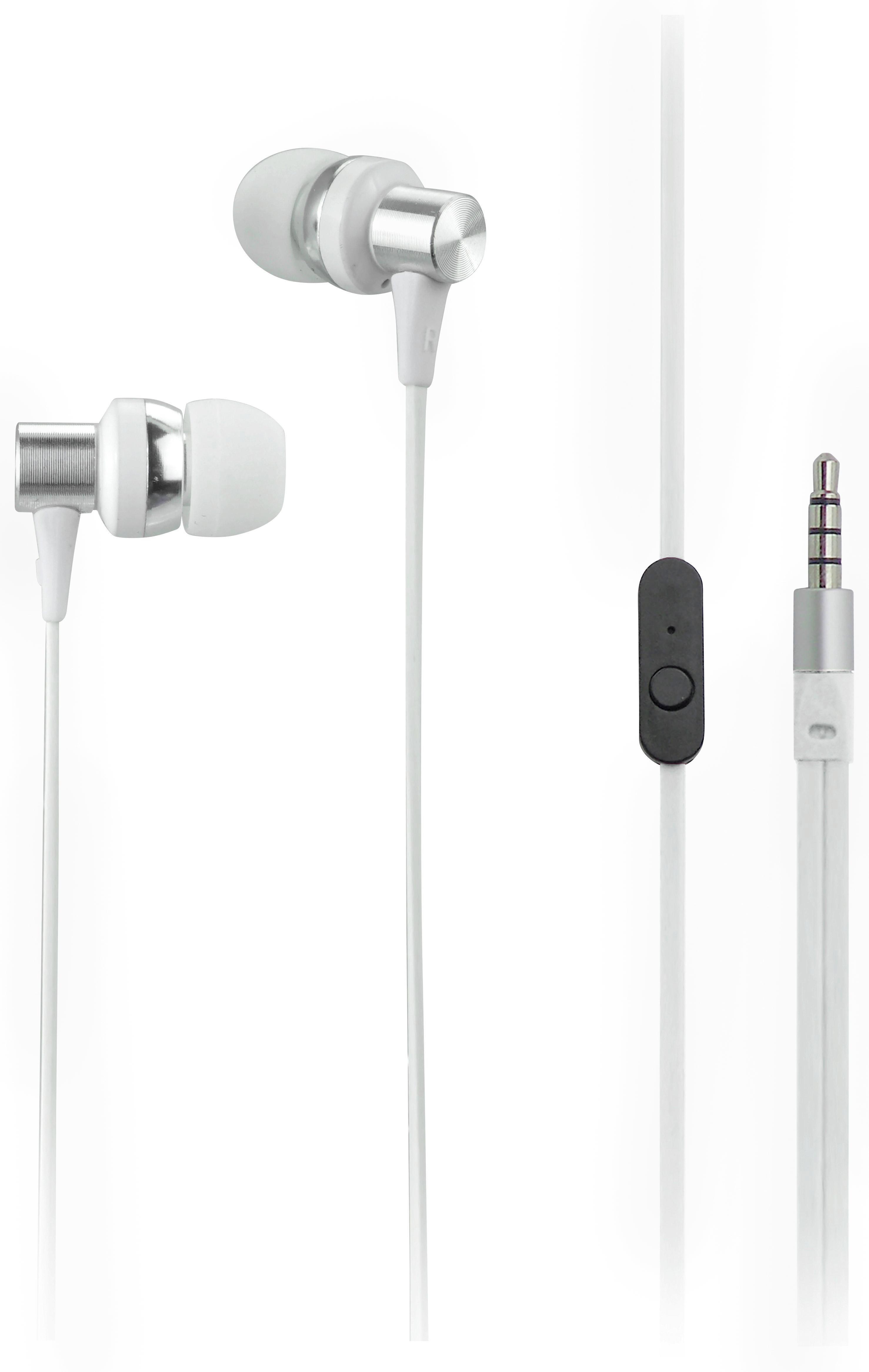 Ohrhörer Cara in Weiß - Weiß, Metall - MÖMAX modern living
