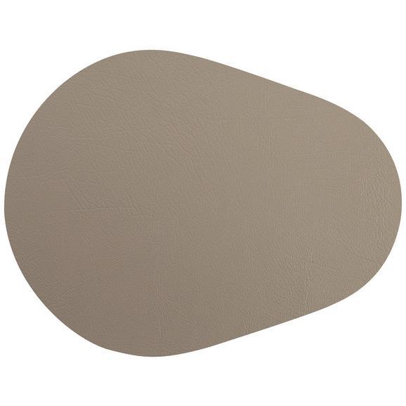Tischset Jette aus Leder in Grau - Grau, Leder (45/35cm) - Premium Living