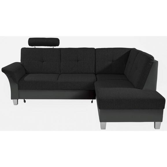 Sjedeća Garnitura Portland - tamno siva/crna, Konventionell, drvni materijal/drvo (245/196cm) - Based