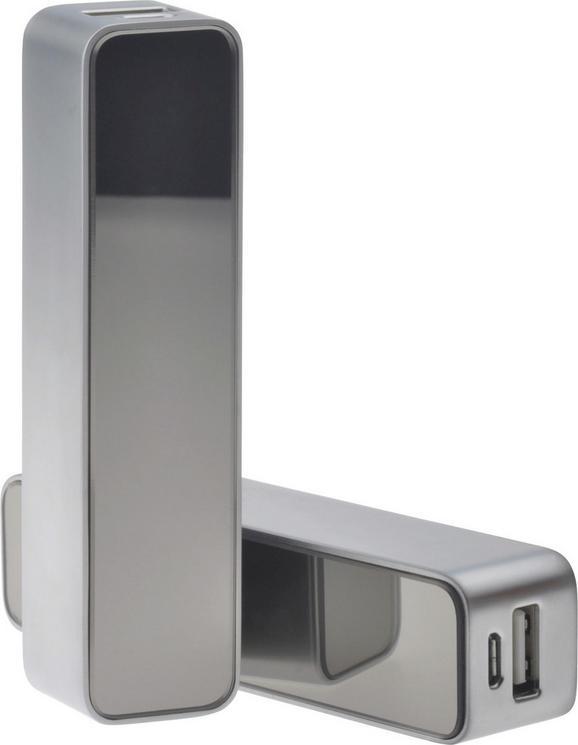 Externer Akku Kelvin in Silber - Silberfarben, Metall (11/2,2/2,5cm) - MÖMAX modern living