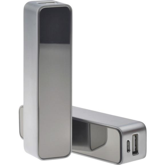 Zunanja Baterija Powerbank 'kelvin' - srebrna, kovina (11/2,2/2,5cm) - Mömax modern living