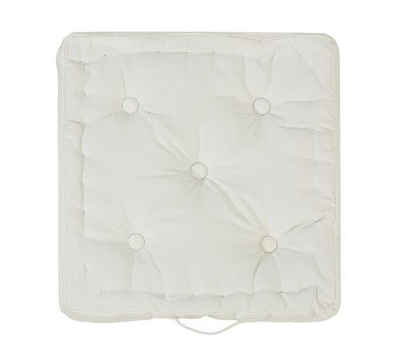 Boxkissen Ninix Weiß ca. 40x40x10cm - Weiß, Textil (40/40/10cm) - Mömax modern living