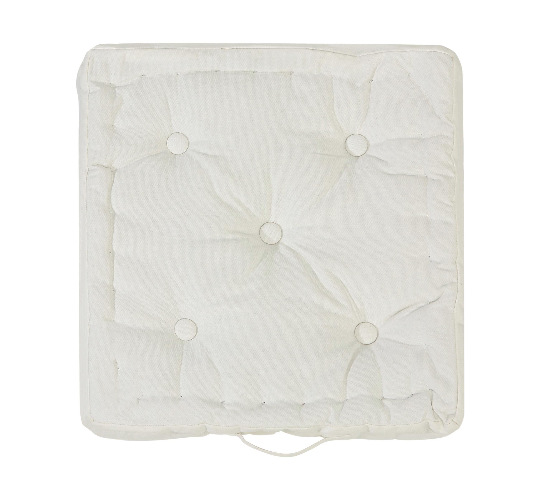 Sitzkissen Ninix in Weiß, ca. 40x40x10cm - Weiß, Textil (40/40/10cm) - MÖMAX modern living