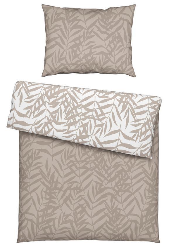 Bettwäsche Miamileaf Wende ca. 140x200cm - Sandfarben, KONVENTIONELL, Textil (140/200cm) - Mömax modern living