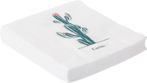 Serviette Happy Cactus in Mintgrün - Mintgrün, Papier (16,5/16,5/2,5cm) - Mömax modern living