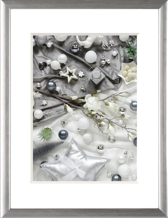 Bilderrahmen Lukas, ca. 18x24cm - Silberfarben, Kunststoff (18/24cm)