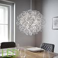 Pendelleuchte Clea mit Led - Chromfarben, MODERN, Metall (40/135cm) - Modern Living