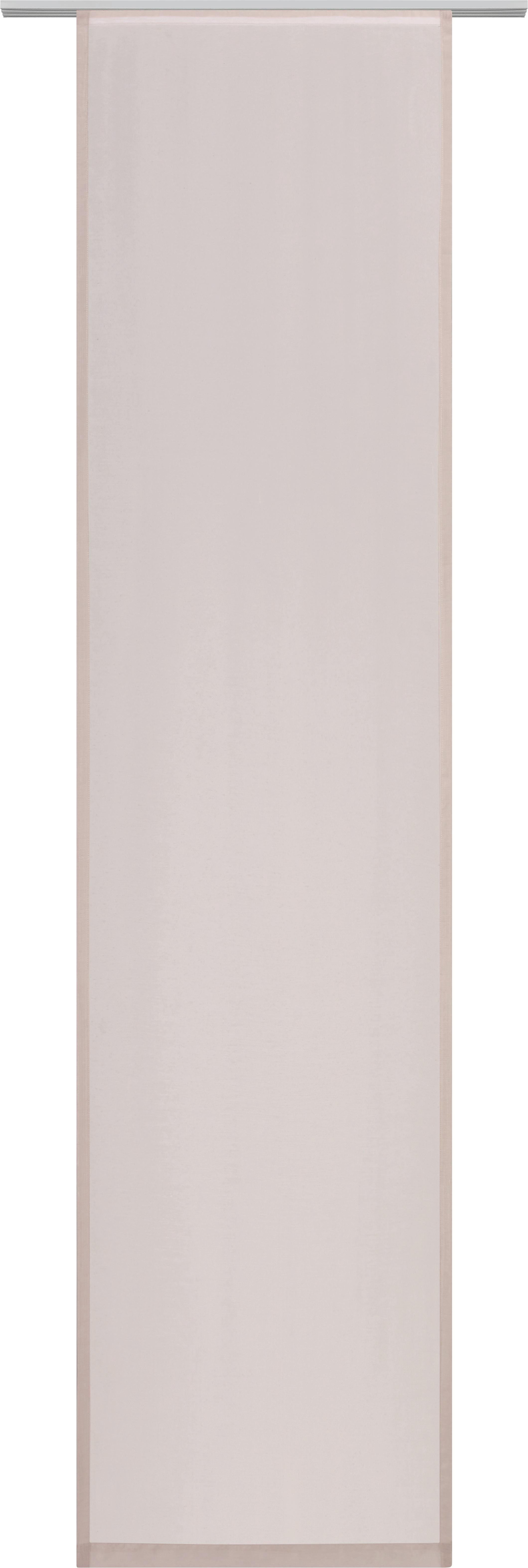 Lapfüggöny Uni - szürkésbarna, modern, textil (60/245cm) - MÖMAX modern living