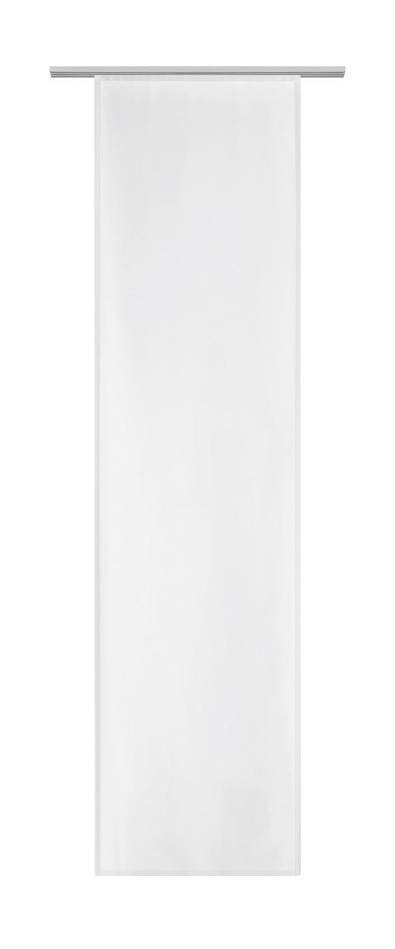 Flächenvorhang Vicky Weiß ca. 60x245cm - Weiß, Textil (60/245cm) - Mömax modern living
