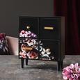Dekokommode mit Blumenmotiv - Goldfarben/Multicolor, Holzwerkstoff (23/27,5/11cm) - Mömax modern living