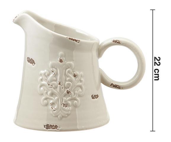 Dekokrug Ariadne - Grau, ROMANTIK / LANDHAUS, Keramik (26/19/22cm) - MÖMAX modern living