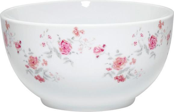 Skodelica Za Kosmiče Roseanne - roza/siva, Romantika, keramika (14,5/7cm) - Zandiara