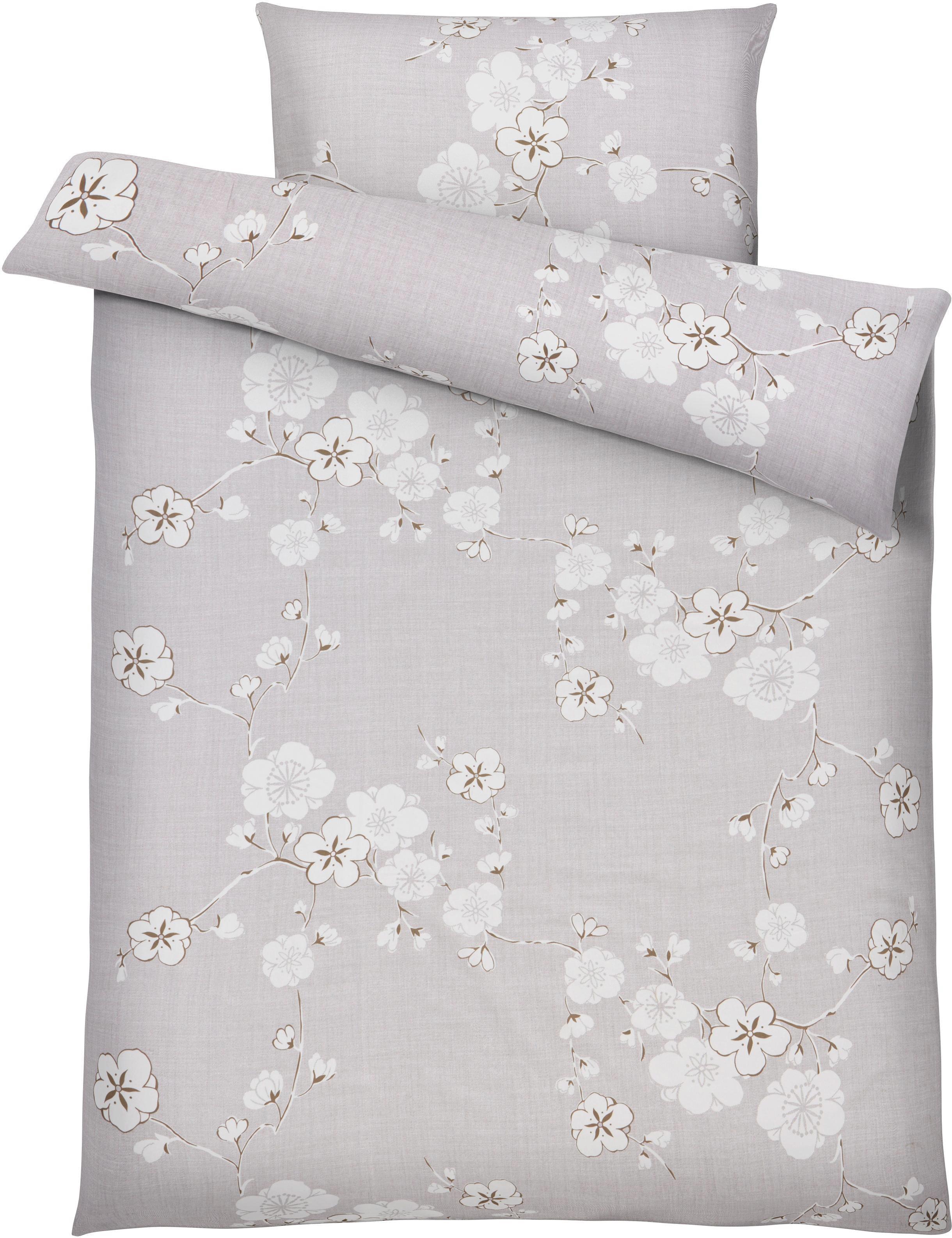 Ágyneműhuzat-garnitúra Emma - szürke, romantikus/Landhaus, textil (140/200cm) - MÖMAX modern living
