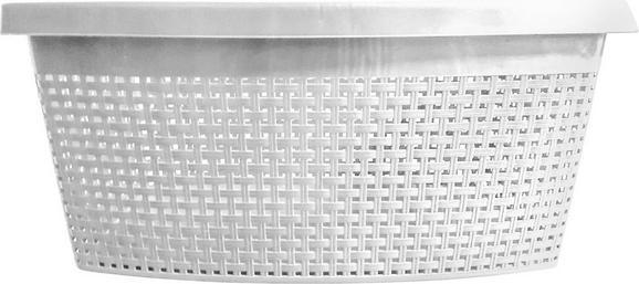 Wäschekorb Rita in Weiß, ca. 60x40x22cm - Weiß, Kunststoff (60/40/22cm) - Mömax modern living