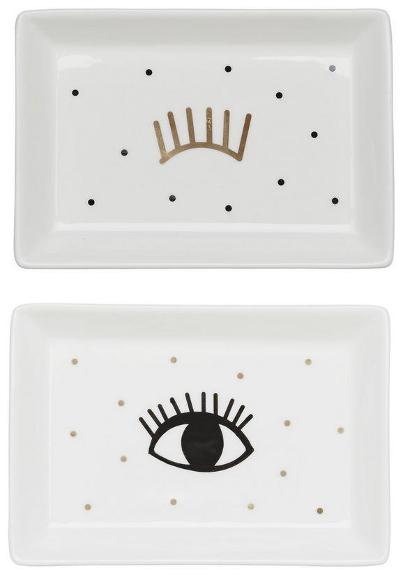 Teller Eyes in verschiedenen Designs - Goldfarben/Weiß, Keramik (14,5/10/2cm) - Mömax modern living