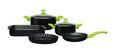 Főzőedény Szett Andrea - fekete/zöld, műanyag/üveg - Mömax modern living