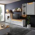 Hängeelement Weiß/Eiche - Chromfarben/Eichefarben, MODERN, Holzwerkstoff/Metall (60/98,5/30cm) - Modern Living