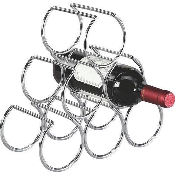 Raft Pentru Vin Wein - culoare crom, Modern, metal (30/28/13cm)