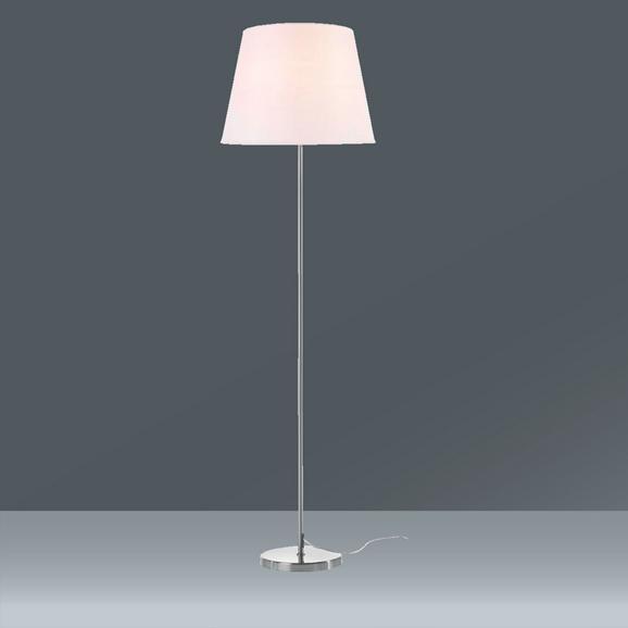 Leuchtenfuß OHNE SCHIRM - Silberfarben, Metall (25/135cm) - Mömax modern living