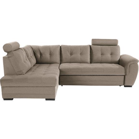 Sedežna Garnitura Falco - svetlo rjava/temno siva, Konvencionalno, kovina/umetna masa (183/251cm) - Mömax modern living
