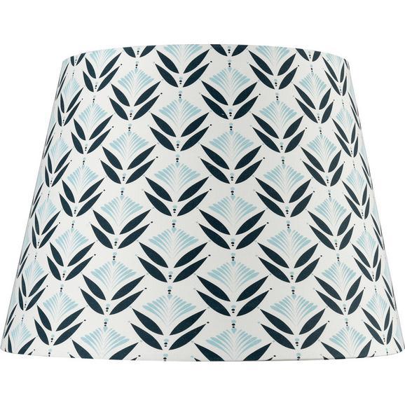 Leuchtenschirm Blomma Schwarz/Weiß - Schwarz/Weiß, MODERN, Textil (25-35/25cm) - Mömax modern living