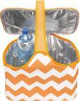 Kühltasche Nick ca.40x20x25cm - Orange/Weiß, Kunststoff/Textil (40/20/25cm) - Mömax modern living
