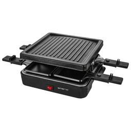 Raclette-Grill Foli inkl. 4 Pfännchen - Schwarz, Kunststoff/Metall (26l)