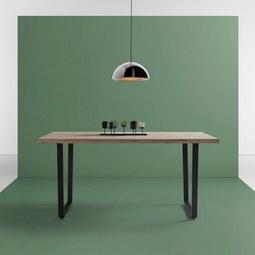 Tisch Dave ca.160x90cm - Eichefarben/Schwarz, MODERN, Holz/Metall (160/90/76cm) - Bessagi Home