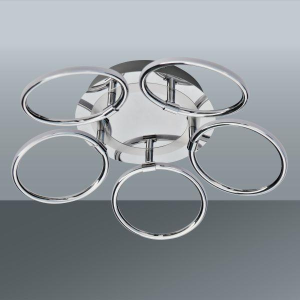 LED-Deckenleuchte Alisia, max. 5x5 Watt - MODERN, Kunststoff/Metall (46/13,1cm) - INSIDO