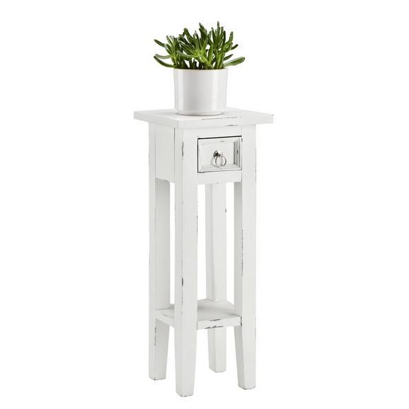 Blumensäule ORKNEY in Weiß - Weiß, LIFESTYLE, Holz (25/67/25cm) - Mömax modern living